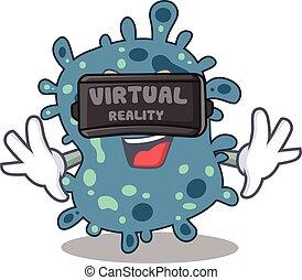 estilo, realidade, headset, modernos, virtual, desenho, ...