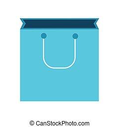 estilo, relleno, compras, icono, bolsa, línea