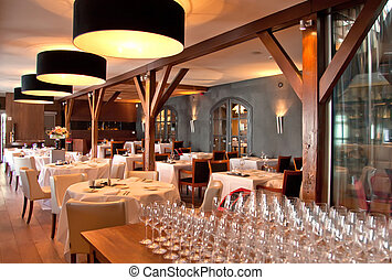 estilo, restaurante, clásico