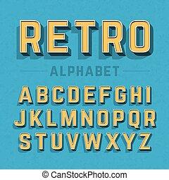 estilo retro, alfabeto