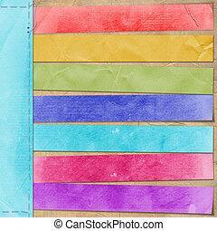 estilo, retro, cartão, anúncio, multicolor