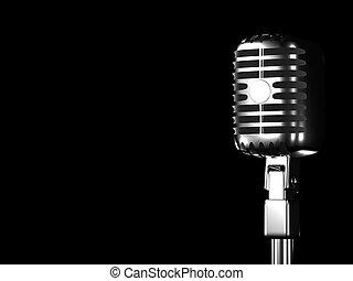 estilo, retro, micrófono