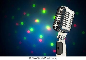 estilo retro, micrófono