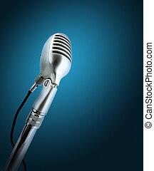 estilo retro, microphone.