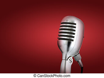 estilo retro, microphone.red, plano de fondo