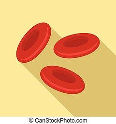 estilo, sangue, apartamento, vermelho, celas, ícone