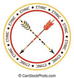 estilo, setas, indianas, fundo, étnico, nativo