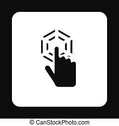 estilo,  simple, mano,  cursor, icono, Clics
