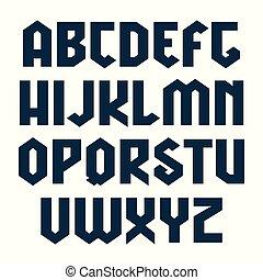 estilo, sin, lineales, serif, gótico, geométrico, fuente