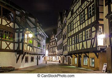 estilo,  Strasbourg,  Área,  petite, França, casas, alsaciano