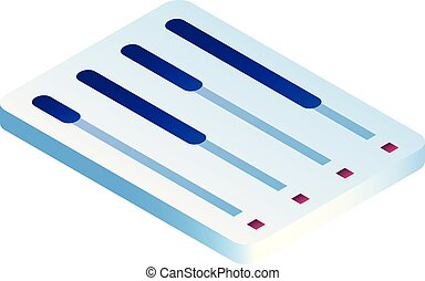 estilo, tabuleta, gráfico, isometric, ícone, linha