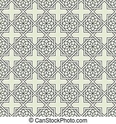 estilo, teste padrão flor, seamless, stylized, geomã©´ricas, árabe