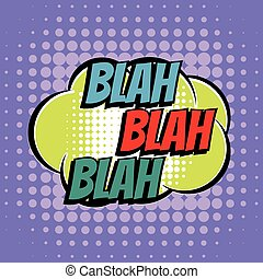 estilo, texto, blah, libro, retro, cómico, burbuja