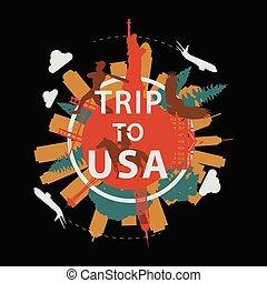 estilo, texto, señal, estados unidos de américa, famoso, ...