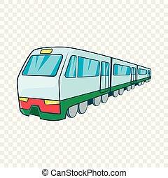 estilo, trem, caricatura, ícone