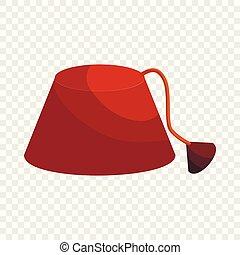 estilo, turco, sombrero, icono, fez, caricatura