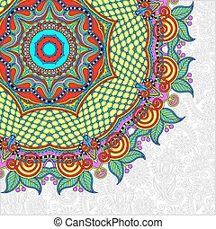 estilo, ucranio, patrón, redondo, oriental, étnico, floral,...