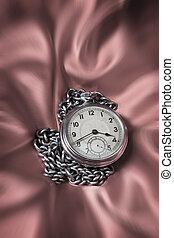 estilo, uno, viejo, reloj