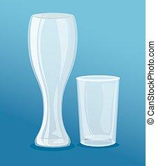 estilo, vacío, pilsner, cortocircuito, mockup, vidrio, ...