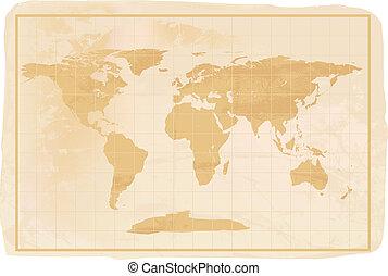 estilo velho, anitioque, mapa mundial