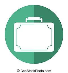 estilo, viaje, moderno, eqipment, maleta, sombra