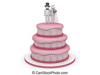 estilo vida, cobrança, -, bolo casamento