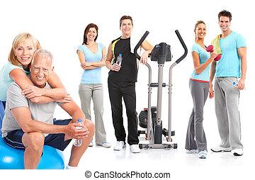 estilo vida, condicão física, ginásio, saudável