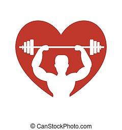 estilo vida, levantamento peso, condicão física