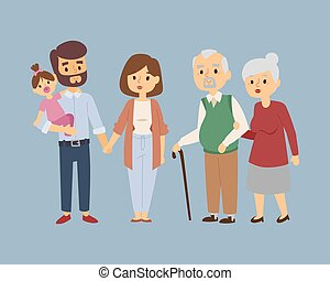 estilo vida, relacionamento, pessoas, par, ilustração, ...