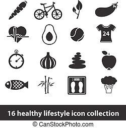 estilo vida saudável, ícones