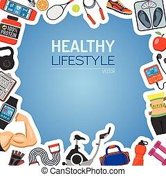 estilo vida saudável, fundo