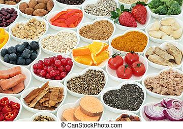 estilo vida saudável, super, alimento