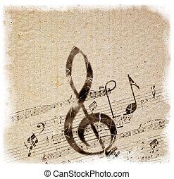 estilo viejo, música, plano de fondo