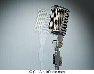 estilo viejo, micrófono