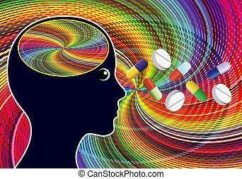 estimulante, drogas, semelhante, amphetamines