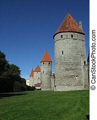 estland, tallinn, paredes, medieval