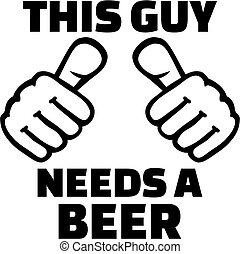 esto, necesidades, tipo, cerveza, pulgares