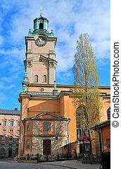 estocolmo, sweden., stockholm?s, catedral, (storkyrkan, el, más viejo, en, el, city)