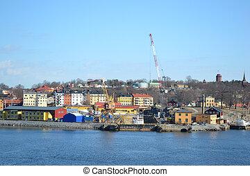 Estocolmo, terraplén