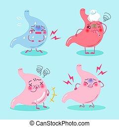 estomac, concept, santé