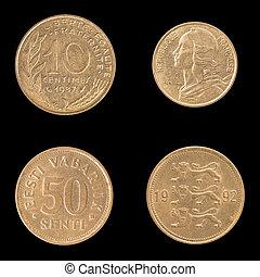 estonia., 硬币, 反面, obverse, 法国