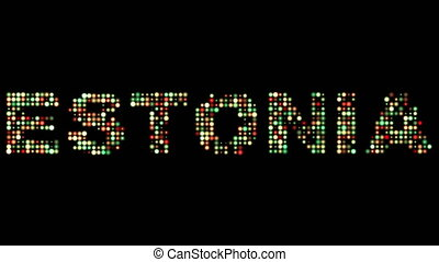 Estonia colorful led text