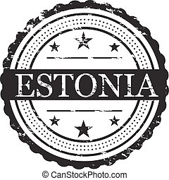 Estonia Country Badge Stamp