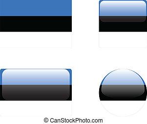 Estonia flag & buttons