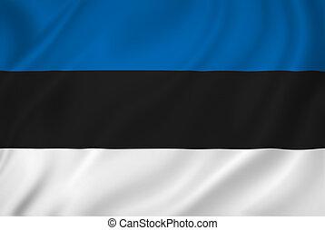 Estonia national flag background texture.