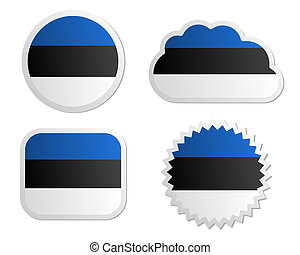 Estonia flag labels