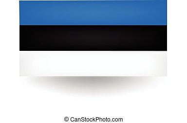 Estonia Flag - Official flag of Estonia.
