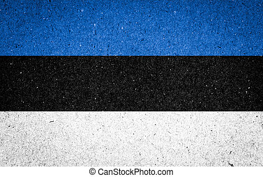 Estonia flag on paper background