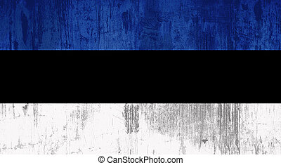 Estonia flag - Illustration of an old and dirty Estonia flag