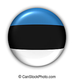 World Flag Button Series - Europ - Estonia (With Clipping Path)